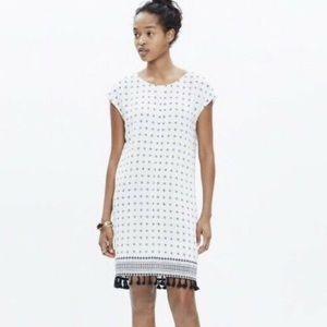 Madewell Scatterblock Tassel dress sz XS